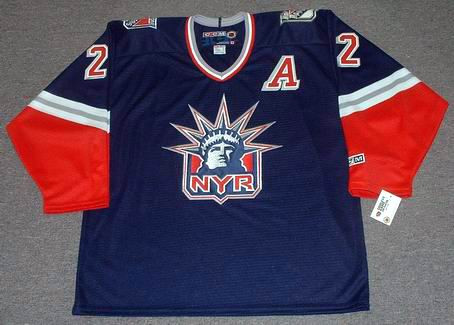 BRIAN LEETCH New York Rangers 1996 Alternate CCM NHL Vintage Throwback Jersey - FRONT