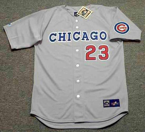RYNE SANDBERG Chicago Cubs 1990 Away Majestic Baseball Throwback Jersey - FRONT