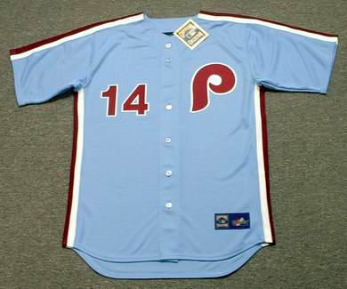 PETE ROSE Philadelphia Phillies 1980 Majestic Cooperstown Throwback Away  Baseball Jersey - Custom Throwback Jerseys 3809197e49d