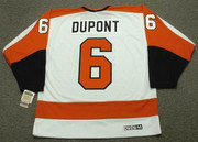 ANDRE DUPONT Philadelphia Flyers 1974 CCM Vintage Throwback Home NHL Jersey - Back