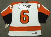 ANDRE DUPONT Philadelphia Flyers 1974 CCM Vintage Throwback Home NHL Jersey - Back