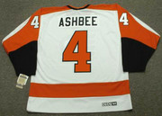 BARRY ASHBEE Philadelphia Flyers 1972 CCM Vintage Throwback Home NHL Jersey - Back
