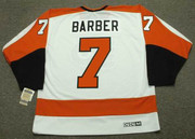 BILL BARBER Philadelphia Flyers 1974 CCM Vintage Throwback Home NHL Jersey - Back