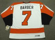 BILL BARBER Philadelphia Flyers 1974 CCM Vintage Throwback Home NHL Jersey - Back