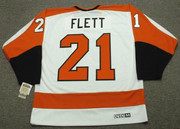 BILL FLETT Philadelphia Flyers 1972 CCM Vintage Throwback Home NHL Jersey - Back
