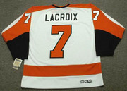 ANDRE LACROIX Philadelphia Flyers 1971 CCM Vintage Throwback Home NHL Jersey - Back