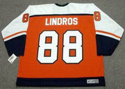 ERIC LINDROS Philadelphia Flyers 1997 CCM Throwback Away NHL Hockey Jersey - Back
