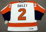 BOB DAILEY Philadelphia Flyers 1980 CCM Vintage Throwback Home NHL Jersey - Back