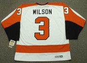 BEHN WILSON Philadelphia Flyers 1980 CCM Vintage Throwback Home NHL Jersey - Back