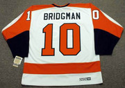 MEL BRIDGMAN Philadelphia Flyers 1980 CCM Vintage Throwback Home NHL Jersey - Back