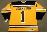 EDDIE JOHNSTON Boston Bruins 1966 CCM Vintage Throwback NHL Jersey
