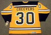 GERRY CHEEVERS Boston Bruins 1960's CCM Vintage Throwback NHL Jersey