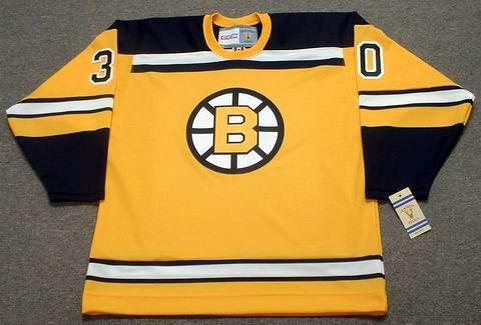 BERNIE PARENT 1966 Home CCM NHL Throwback Boston Bruins Jerseys - FRONT