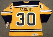 BERNIE PARENT 1966 Home CCM NHL Throwback Boston Bruins Jerseys - BACK