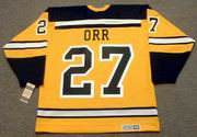 BOBBY ORR 1966 Home CCM NHL Throwback Boston Bruins Jerseys - BACK