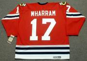 KENNY WHARRAM Chicago Blackhawks 1963 CCM Vintage Throwback NHL Jersey