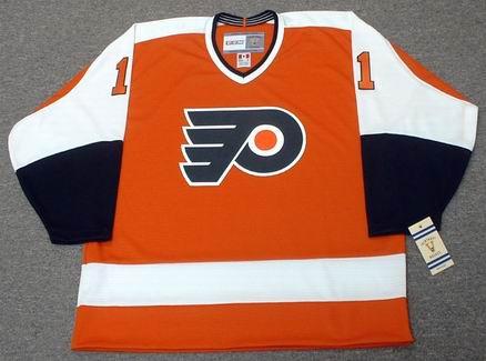 Bernie Parent 1974 Philadelphia Flyers NHL Throwback Away Jersey - Front