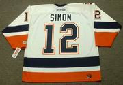 CHRIS SIMON New York Islanders 2006 Away CCM Throwback NHL Hockey Jersey - BACK