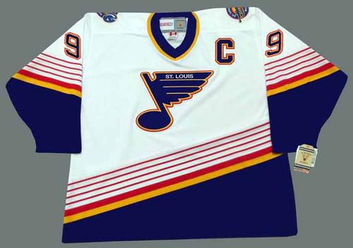 WAYNE GRETZKY St. Louis Blues 1996 Home CCM NHL Vintage Throwback Jersey - FRONT