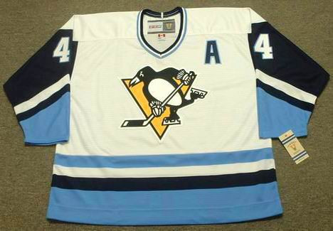 Dave Burrows 1977 Pittsburgh Penguins NHL Throwback Hockey Home Jersey - FRONT