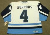Dave Burrows 1977 Pittsburgh Penguins NHL Throwback Hockey Home Jersey - BACK