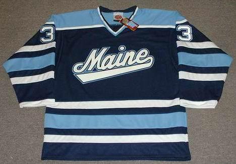 timeless design 7726f e2eeb JIMMY HOWARD Maine Black Bears 2004 Throwback NCAA Hockey Jersey