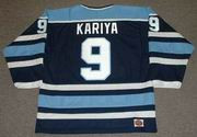 Paul Kariya 1993 Maine Black Bears NCAA Retro Throwback Hockey Jersey - BACK