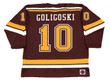 ALEX GOLIGOSKI Minnesota Gophers 2006 NCAA Throwback Hockey Jersey - BACK