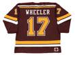 BLAKE WHEELER Minnesota Gophers 2007 NCAA Throwback Hockey Jersey - BACK