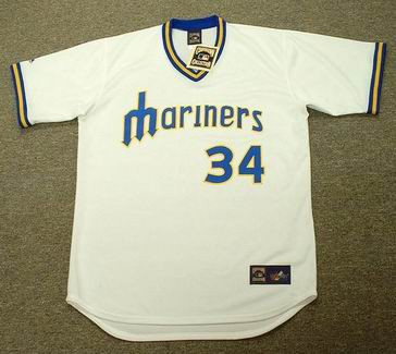 new concept f8f80 4b9d7 FELIX HERNANDEZ Seattle Mariners Majestic Cooperstown Throwback Baseball  Jersey