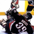 DOMINIK HASEK Buffalo Sabres 1999 Away CCM NHL Vintage Throwback Jersey - ACTION