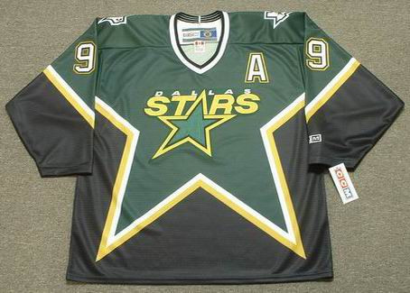MIKE MODANO Dallas Stars 1999 Away CCM NHL Vintage Throwback Jersey - FRONT