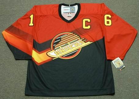 newest collection 4b40f e8cfc TREVOR LINDEN Vancouver Canucks 1995 CCM Vintage Throwback NHL Jersey
