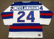 ROB MCCLANAHAN 1980 USA Olympic Hockey Jersey - BACK