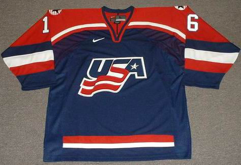 Brett Hull 2002 Team USA Olympic Nike Throwback Hockey Jersey - FRONT