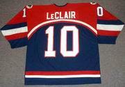 JOHN LeCLAIR 2002 USA Nike Olympic Throwback Hockey Jersey