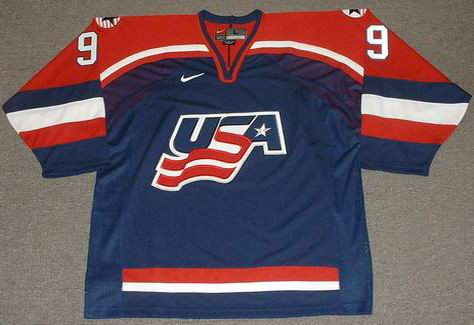 separation shoes 4d394 ef390 MIKE MODANO 2002 USA Nike Olympic Throwback Hockey Jersey