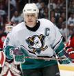 Paul Kariya 2003 Anaheim Mighty Ducks Home CCM NHL Throwback Hockey Jersey - Action
