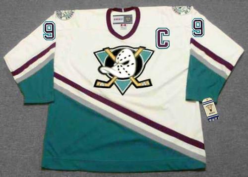 Paul Kariya 2003 Anaheim Mighty Ducks Home CCM NHL Throwback Hockey Jersey - Front