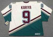 Paul Kariya 2003 Anaheim Mighty Ducks Home CCM NHL Throwback Hockey Jersey - Back