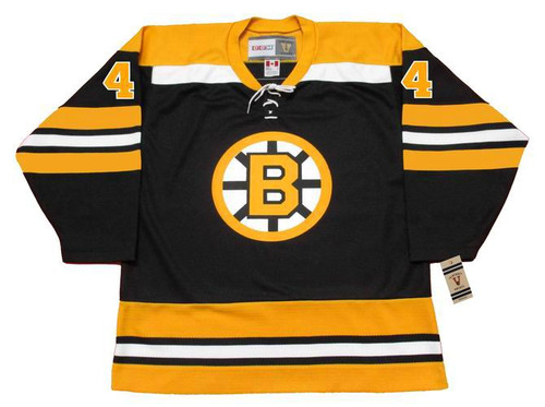 BOBBY ORR 1970 CCM NHL Throwback Boston Bruins Away Jerseys - FRONT