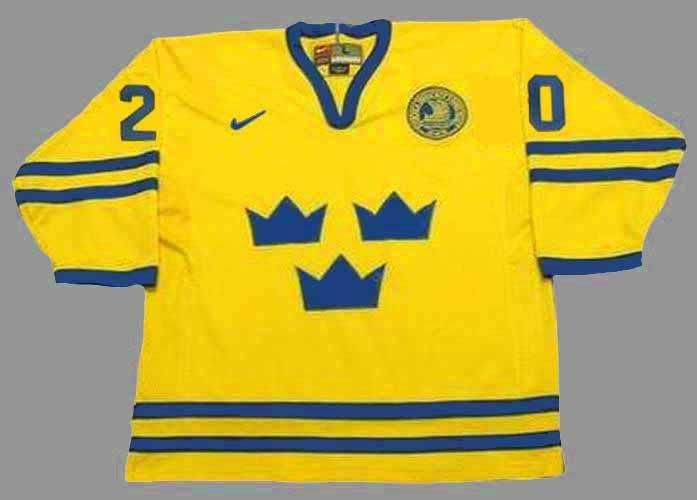 hot sales d8123 75873 HENRIK SEDIN Team Sweden Nike Olympic Throwback Hockey Jersey