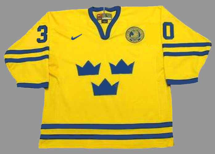 HENRIK LUNDQVIST Team Sweden Nike Olympic Throwback Hockey Jersey ... 4474a140d