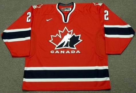Al MacInnis 2002 Team Canada Olympic Nike NHL Throwback Hockey Jersey - FRONT