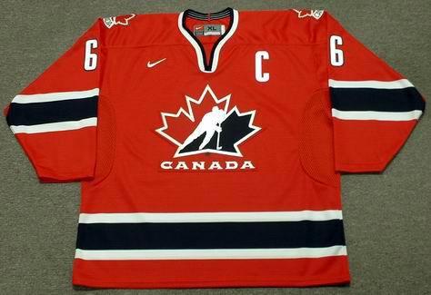 MARIO LEMIEUX 2002 Team Canada Nike Olympic Throwback Hockey Jersey - FRONT