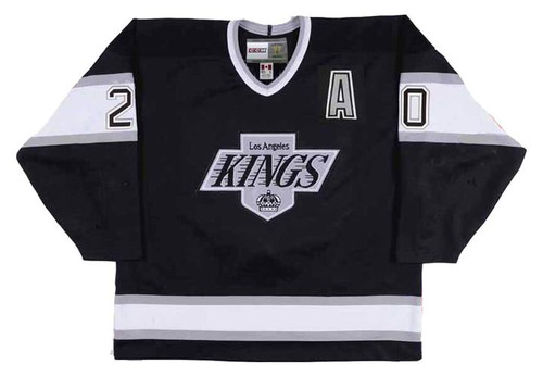LUC ROBITAILLE Los Angeles Kings 1993 Away CCM Throwback NHL Hockey Jersey - FRONT