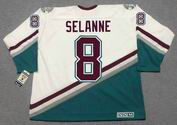 TEEMU SELANNE Anaheim Mighty Ducks 1997 Home CCM NHL Vintage Throwback Jersey - BACK
