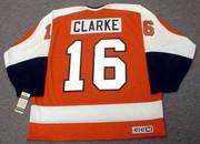 BOBBY CLARKE Philadelphia Flyers 1974 CCM Vintage Throwback Away NHL Jersey - Back