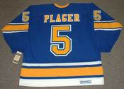 BOB PLAGER St. Louis Blues 1967 CCM Vintage Throwback NHL Hockey Jersey
