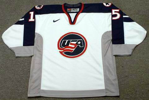 Brett Hull 1998 Team USA Olympic Nike Throwback Hockey Jersey - FRONT